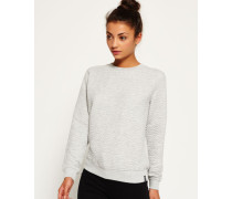 Damen Gestepptes Nordic Crew Sweatshirt grau