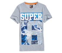 Herren Super No. 6 Mountain T-Shirt blau