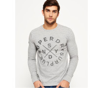 Herren Surplus Goods Long Sleeve Graphic T-Shirt grau
