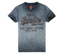 Herren Shirt Shop T-Shirt mit Überfärbung schwarz