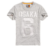 Herren Perforiertes Osaka T-Shirt mit Prägung hellgrau