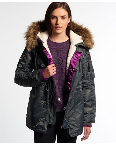 superdry damen superdry damen sd 3 parka grau reduziert. Black Bedroom Furniture Sets. Home Design Ideas