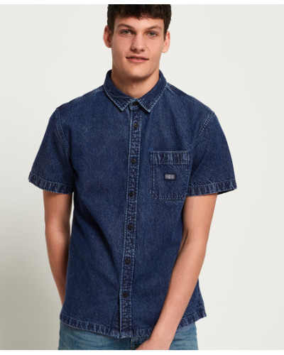 Union Kurzarmhemd blau