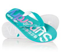 Damen Scuba Logo Faded Flip-Flops türkis
