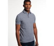 Herren Classic Piqué Polo-Shirt blau