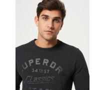Herren The Industry Rundhals-Pullover mit Überfärbung schwarz