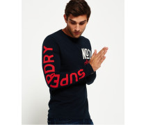 Herren No28 Athletics Langarm-T-Shirt marineblau