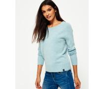 Damen Downtown Raglan-Strickpullover blau