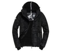 Herren Sports Puffer Jacke schwarz