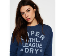 Damen Athletic League Loopback Rundhals-Sweatshirt blau