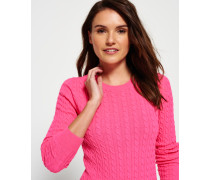 Damen Summer Luxe Mini Cable Knit Pullover pink