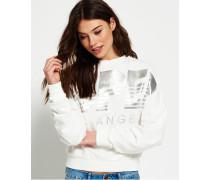 Damen Downtown LA Rundhals-Sweatshirt weiß