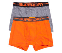 Herren Sport Boxershorts im 2er-Pack orange