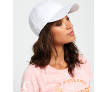 Damen Weiche Orange Label Mütze weiß