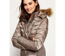 Damen Luxe Fuji Double Zip Kapuzenjacke grau