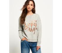 Damen Northern Lights Fashion Rundhalssweatshirt grau
