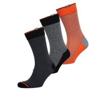 Damen City Socken im 3er-Pack bunt