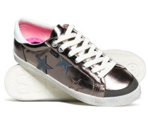 Damen Super Sleek Logo Low-Top Sneaker dunkelgrau