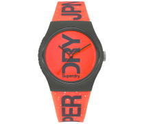 Damen Urban Brand Glitzeruhr orange