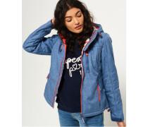 Damen Sherpa SD-Windtrekker Kapuzenjacke blau