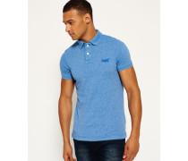 Herren Vintage Destroyed Snow Polo-Shirt blau