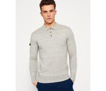 Herren Orange Label Knit Polo-Shirt grau