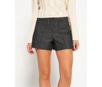 Damen Tweed Nordic Shorts grau