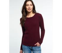 Damen Luxe Mini Cable Pullover lila
