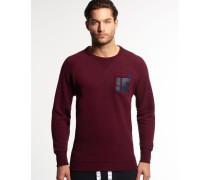 Herren Runner Crew Sweatshirt rot