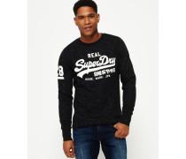 Herren Vintage Logo Rundhals-Sweatshirt grau