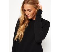 Damen Gestepptes Nordic Crew Sweatshirt schwarz