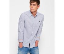 Herren Schmal geschnittenes Poolside Hemd blau