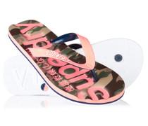 Damen Classic Camo Flip Flops pink