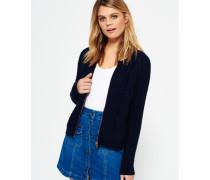 Damen Evie Cable Knit Bomberjacke marineblau