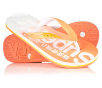 Damen Faded Flip Flops orange