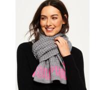 Damen Schal mit Waffelmuster hellgrau