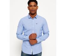 Herren Cut Away Collar Hemd blau