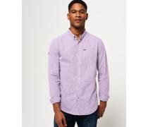 Herren London Button-down-Hemd lila
