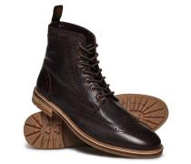 Herren Brad Brogue Premium Stamford Boots braun