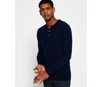 Herren IE Premium Strick-Polo marineblau