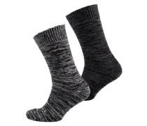 Herren Doppelpack Big Hiker Socken schwarz
