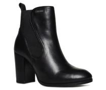 Damen Fleur Chelsea-Stiefel mit Absatz schwarz