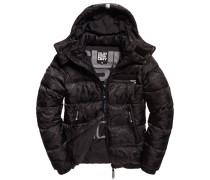 Herren Tri Racing Camo Puffer Jacke schwarz