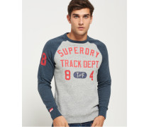 Herren Trackster Baseball-Pullover mit Rundhalsausschnitt grau
