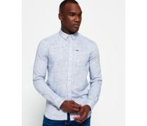 Herren Boston Button Down Long Sleeve Hemd marineblau