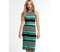 Damen Starboard Stripe Midikleid grün