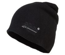 Herren Basic Tonal Embroidery Beanie schwarz
