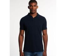 Herren Refined Piqué Polo-Shirt marineblau