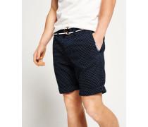 Herren International Dot Chino Shorts marineblau