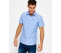 Herren Modernes, klassisches Hemd blau